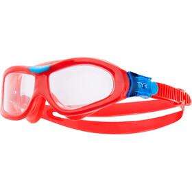 TYR Orion Masque de natation Enfant, clear/red/red
